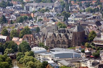 Marburg Stadtansicht mit Elisabethkirche