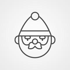 Santa claus vector icon sign symbol