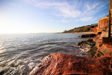 Exmouth cliffs, Devon