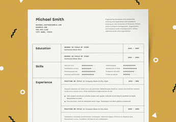 Resume Layout with Table Elements