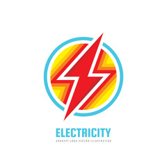 Lightning - vector business logo template concept illustration. Electricity energy power icon sign. Electric abstract symbol. Graphic design element.