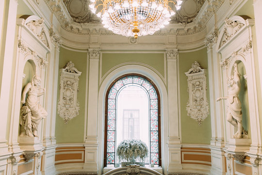 The registry office in St. Petersburg. Elagin island in summer.