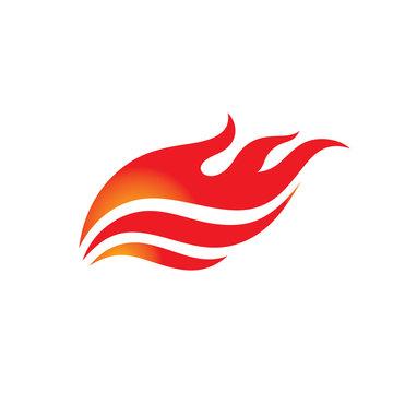 Fire - vector logo template concept illustration. Flame creative sign. Hot warm icon. Dangerous symbol. Design element.