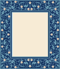 Vector Eastern frame for decoration of various designs. Can be used for Muslim holidays, for Oriental decoration style.