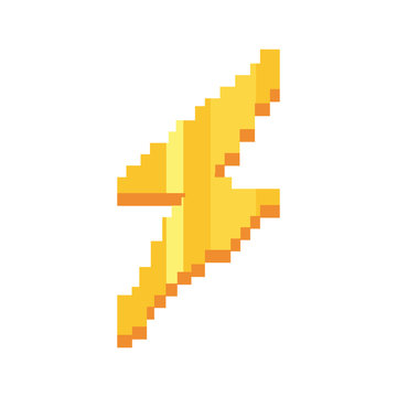 pixel video game thunderbolt