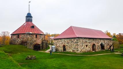 Foto auf Leinwand Befestigung Korela fortress in the Priozersk town. Karelia, Russia