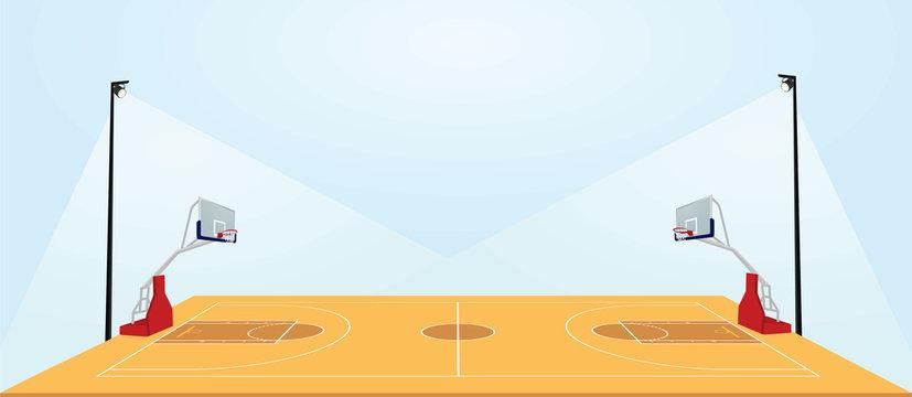 Basketball field. vector illustration