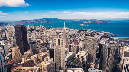 Fototapete - Aerial cityscape view of San Francisco