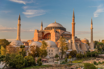 Hagia Sophia or Ayasofya (Turkish), Istanbul, Turkey. It is the former Greek Orthodox Christian patriarchal cathedral, later an Ottoman imperial mosque and now a museum. It is one of seven wonders.