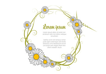 Text in Flower Circle Layout