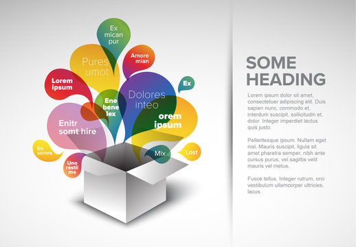 Infographic Layout with Colorful Box