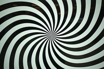 spiral burst abstract black and white, illusion stripe, twist optical pattern