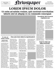 newspaper front page