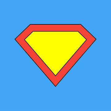 Superhero icon. Superman