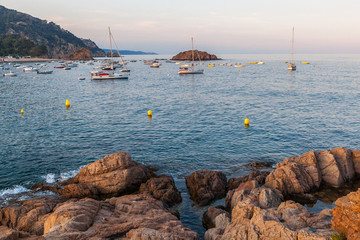 Tossa de mar castle and fortress in the old town and sea views