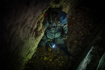 Wall Mural - Caucasian Caves Explorer