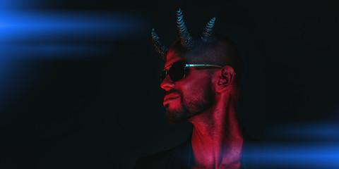 horned evil man