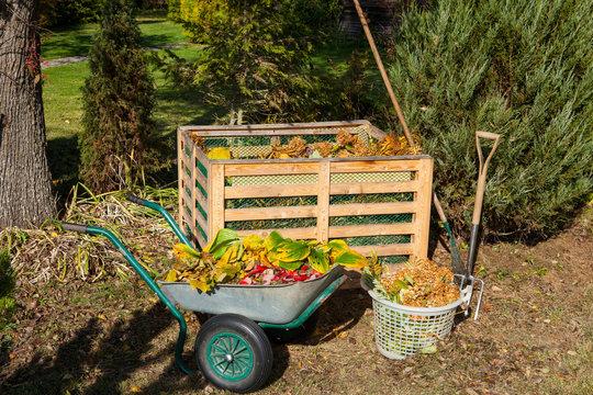 Image of compost bin in the garden