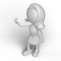 Female character 3D in different positions