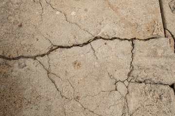 Tan, Cracked Cement