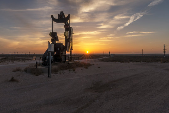 Oil Well at Eunice, New Mexico