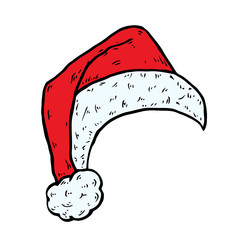 Santa hat, Christmas cap icon