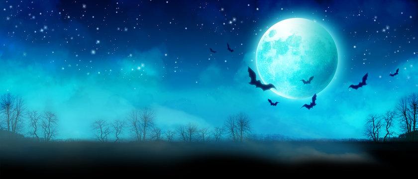 Halloween Motiv mit Vollmond