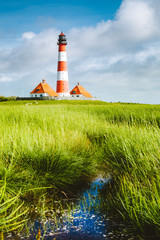 Westerheversand lighthouse, North Sea, Schleswig-Holstein, Germany