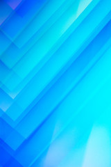 Blue geometric shapes. Abstract photo.
