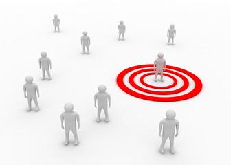 target communication concept