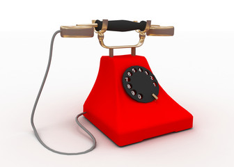 retro phone contact us concept