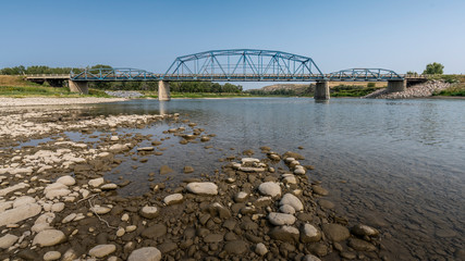 Bow River Crossing on the Siksika Nation