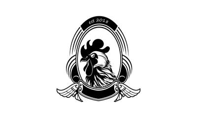 chicken logo, design emblem vector illustration