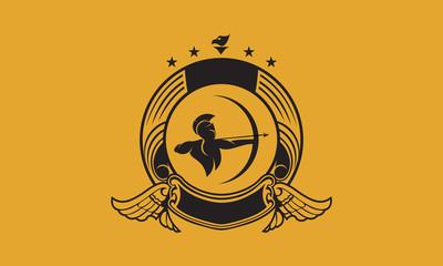 archer logo design template vector illustration