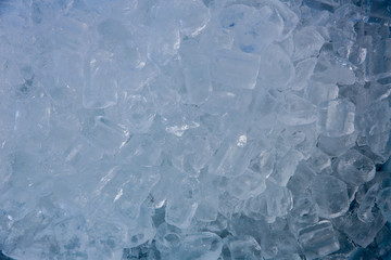 fresh cool Ice cubes isolated on white background.