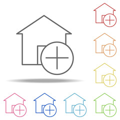 placeholder icon. Elements of Building Landmarks in multi color style icons. Simple icon for websites, web design, mobile app, info graphics