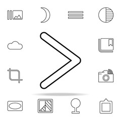 Right sign icon. Image icons universal set for web and mobile