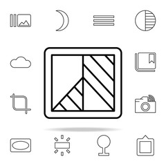 Black and White sign icon. Image icons universal set for web and mobile
