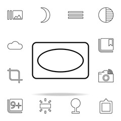 Vignette sign icon. Image icons universal set for web and mobile