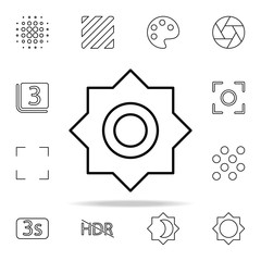 Brightness sign icon. Image icons universal set for web and mobile