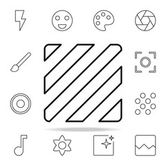 Lines sign icon. Image icons universal set for web and mobile