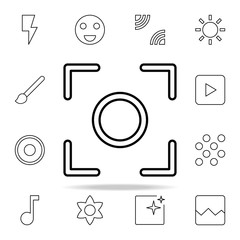 Center focus sign icon. Image icons universal set for web and mobile
