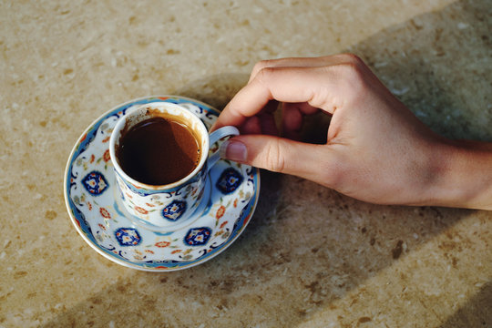 Sip of Turkish coffee