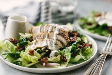 Angle View Grilled Chicken B.L.T. Salad