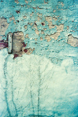 Turquoise Grunge Texture Wall