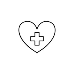 heart medical icon. Element of medicine for mobile concept and web apps icon. Thin line icon for website design and development, app development. Premium icon