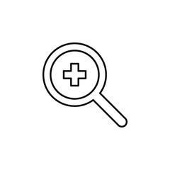search hospital icon. Element of medicine for mobile concept and web apps icon. Thin line icon for website design and development, app development. Premium icon