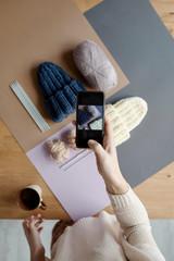 Photo of handmade knit hats