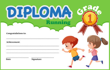 A running diploma certificate