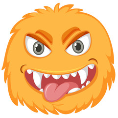 A yellow monster face